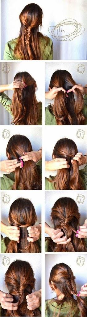 Coiffure simple cheveux longs pour femme