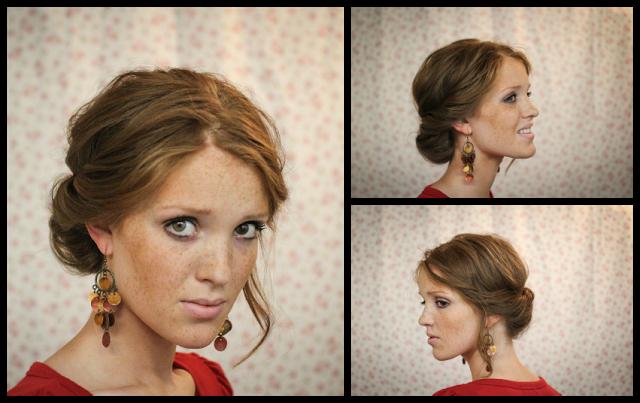 Coiffure simple soir e noel 2014 coiffure simple et facile - Coiffure noel facile ...