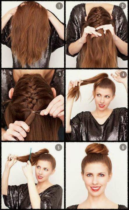 Coiffure fete facile realiser pour cheveux mi long