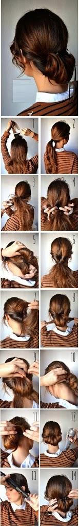 Tutoriel coiffure facile cheveux longs