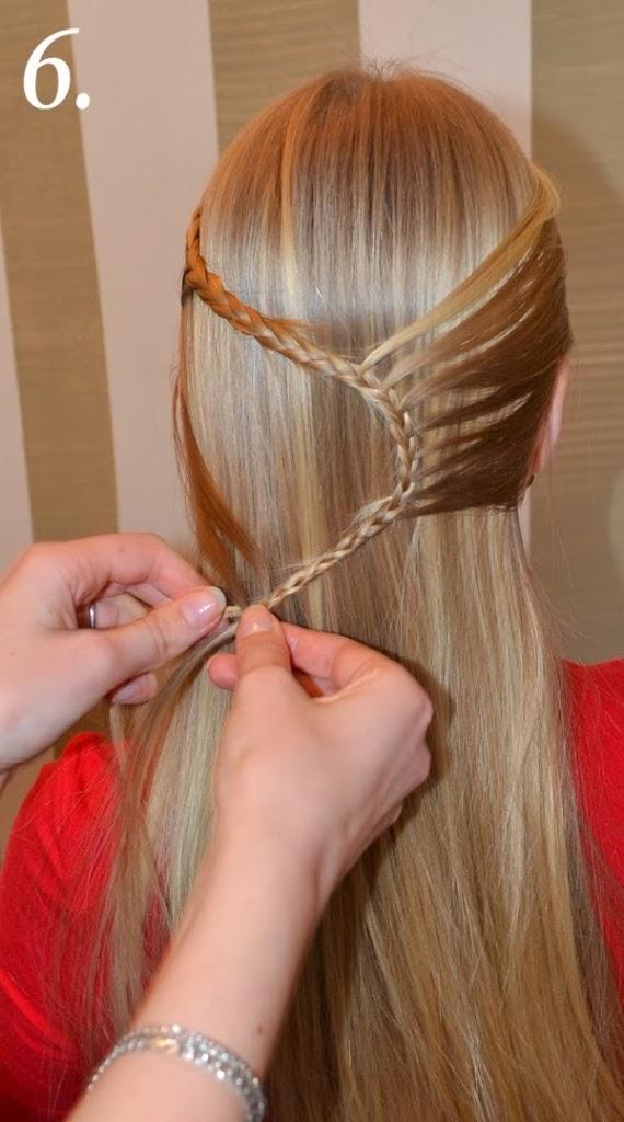 Coiffure tresse cheveux longs
