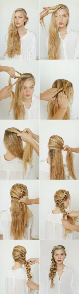 Coiffure simple et rapide pour les cheveux longs