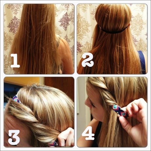 Une jolie coiffure pour printemps 2014 \u2013 coiffure simple et rapide