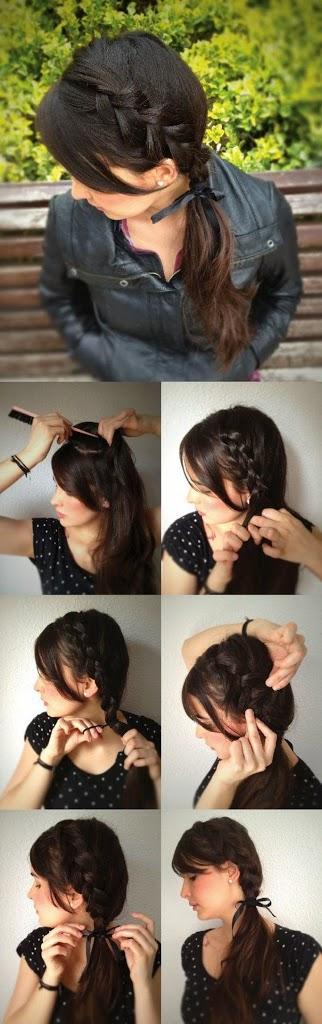 Une jolie coiffure pour printemps 2014 - coiffure simple et rapide