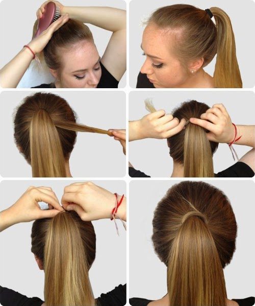 Coiffure simple pour le weekend