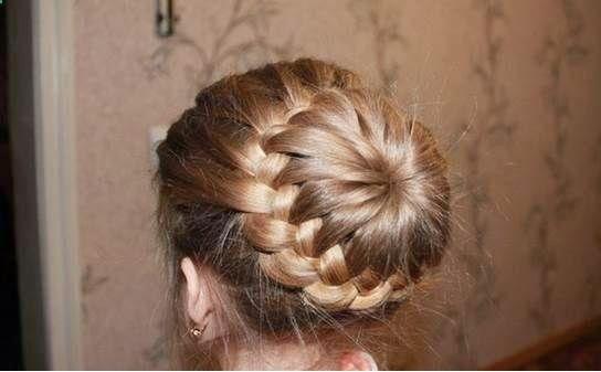 Une coiffure pour petite fille