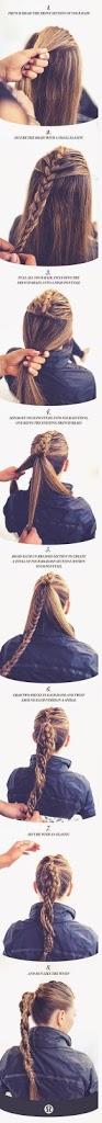 Coiffure simple pour femme avec tresse