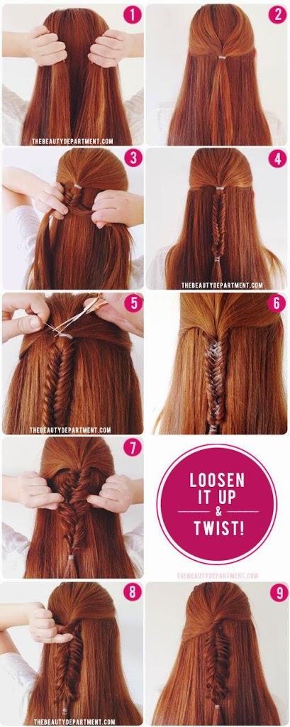 Idées de coiffures simples et rapides pour filles