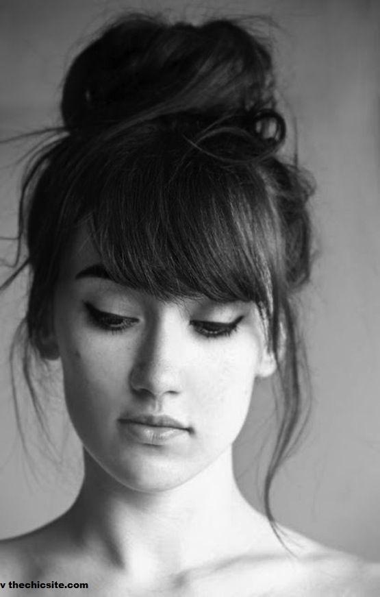 30 styles de franges qui vous donneront envie de se couper une frange coiffure simple et facile - Comment se couper une frange sur le cote ...