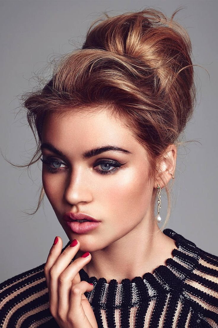 How To Do Wedding Hair And Makeup : 30 Modeles de Chignons Glamour inspires De Pinterest ? ...