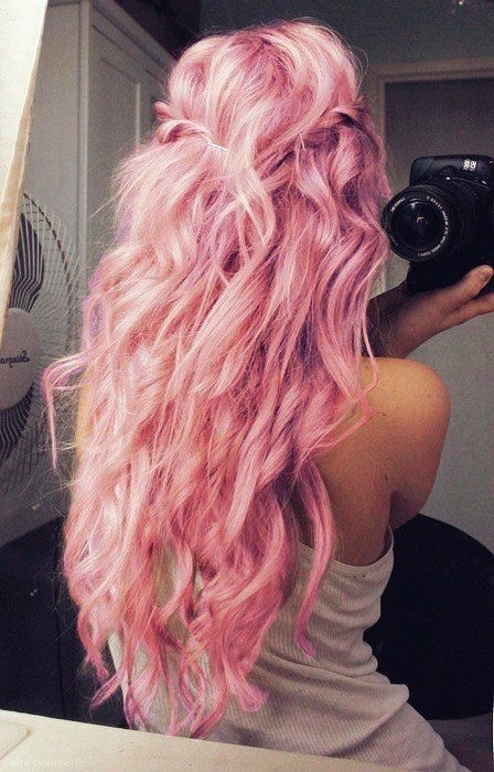 Coloration cheveux gris rose