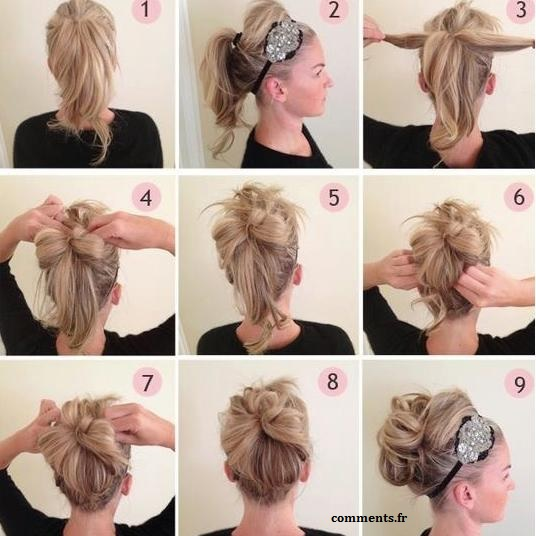 Coiffure cheveux long attache comment faire