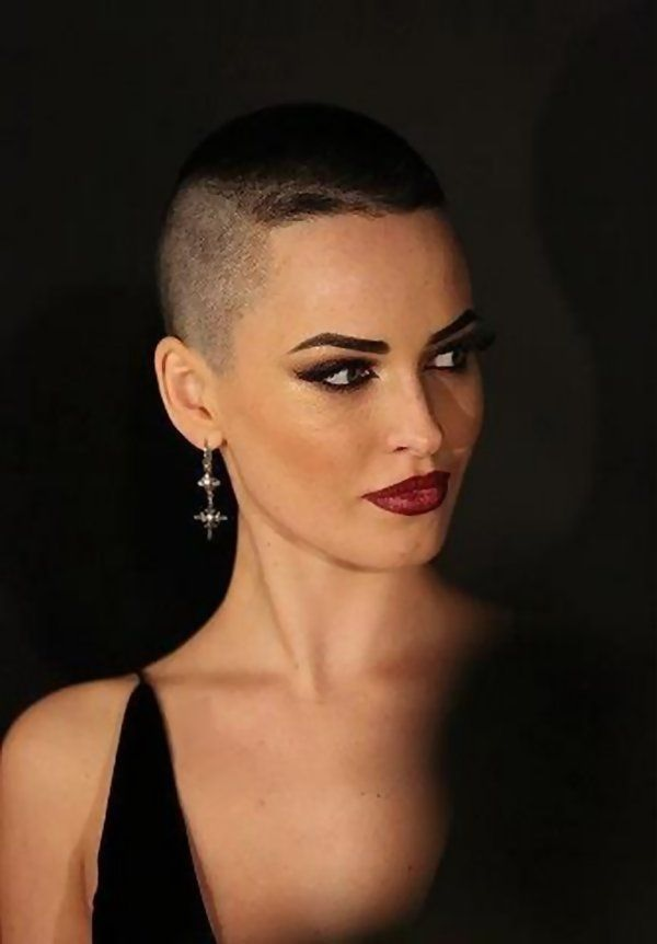 Excellent Shaved bald female heads