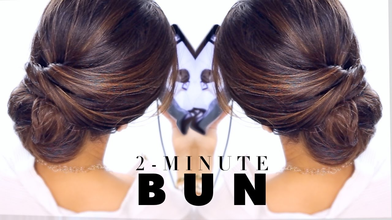 2,Minute Elegant BUN Hairstyle ☆ EASY Updo Hairstyles
