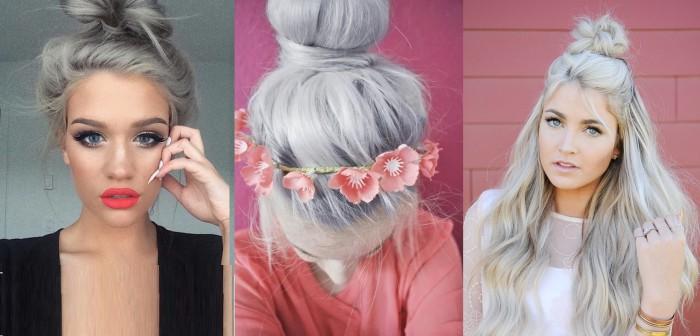 les cheveux gris c est chic et c est tendance la preuve en photos coiffure simple et facile. Black Bedroom Furniture Sets. Home Design Ideas