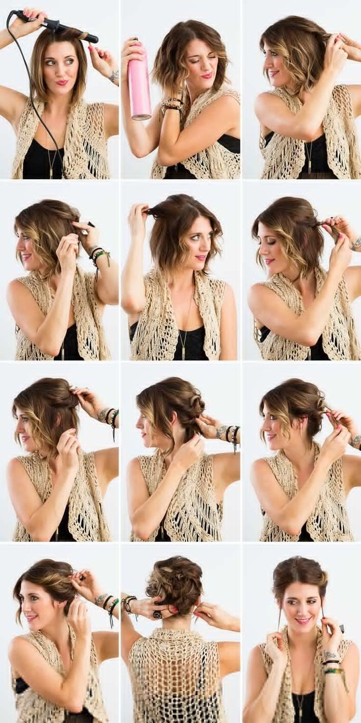 10 coiffures simples faciles et rapides pour cheveux courts coiffure simple et facile. Black Bedroom Furniture Sets. Home Design Ideas