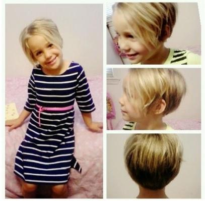 25 belles coupes pour petites filles coiffure simple et. Black Bedroom Furniture Sets. Home Design Ideas