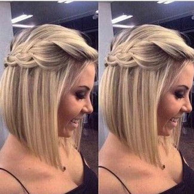 des coiffures pour cheveux courts