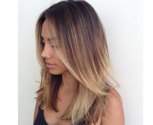 Cheveux long couleur tendance