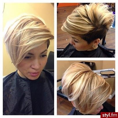 Les coupes courtes avec frange la grosse tendance coupes en 2016 coiffure simple et facile - Coiffure pour grosse ...