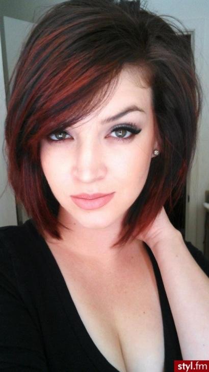 Degrade couleur cheveux court