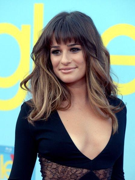 Couleurs impressionnants et coupes modernes avec frange for Lea michele coupe de cheveux