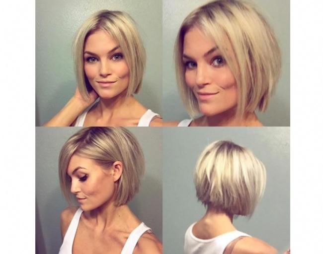 Coupe de cheveux moderne carre