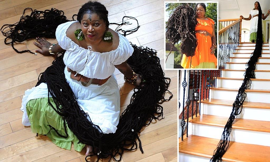 Record Cette Femme A Les Plus Longs Cheveux Du Monde