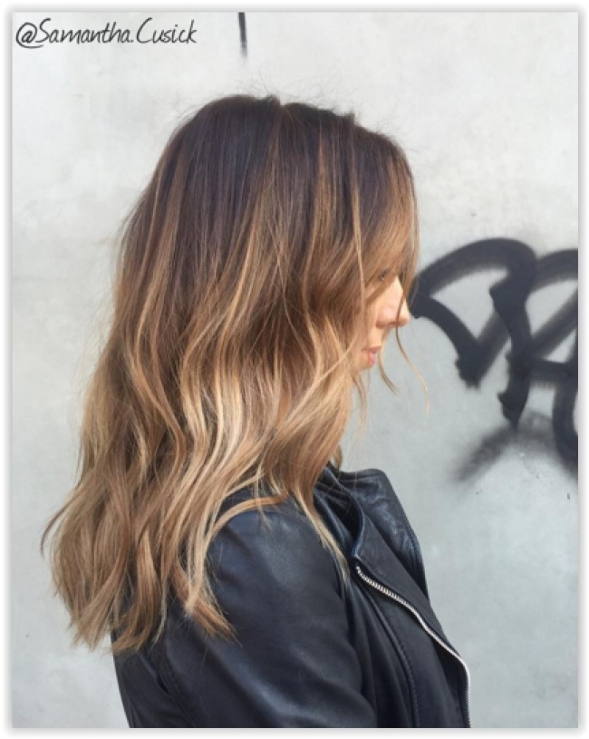 Ombr Hair Miel Cheveux Court