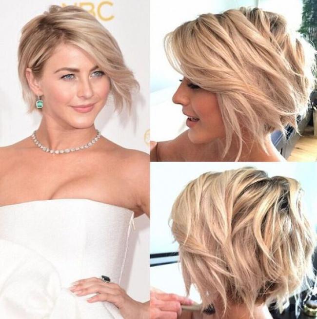 Meches blonde sur cheveux court