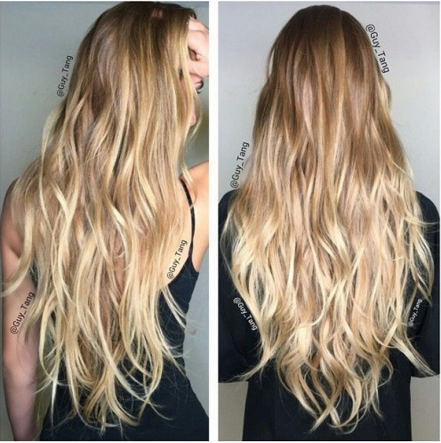 Ombr Hair Cheveux Court Blond
