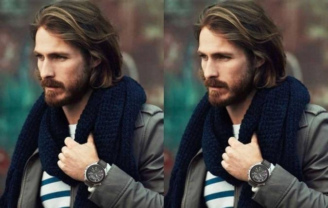 Coupe cheveux long classe homme