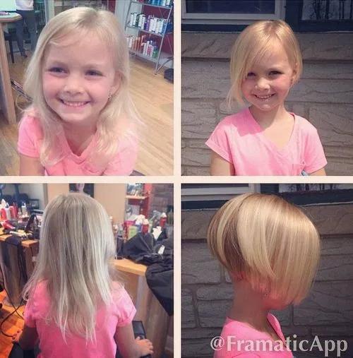 Coupes et coiffures pour petites filles les meilleurs - Coupe carre plongeant pour petite fille ...