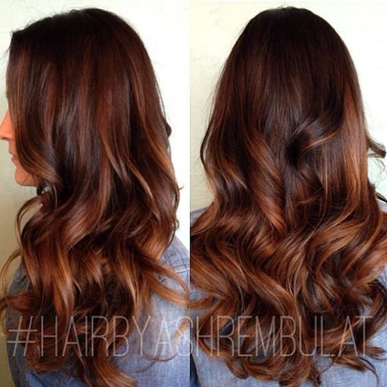 Ombre Hair Marron Caramel Tendance Printemps/Été 2016 ...