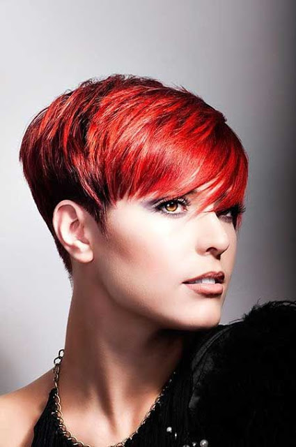 Coupes gar onne rouge les meilleurs mod les piquer coiffure simple et facile - Coupe garconne fille ...