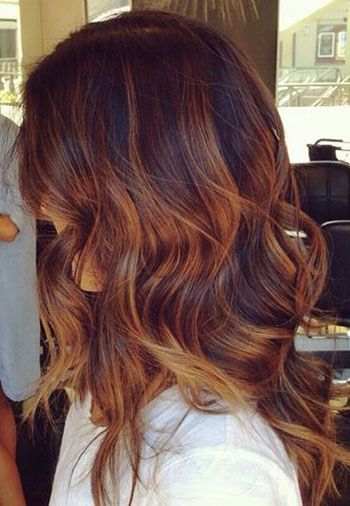 Ombre Hair Marron Caramel Tendance Printemps T 2016 Coiffure Simple Et Facile
