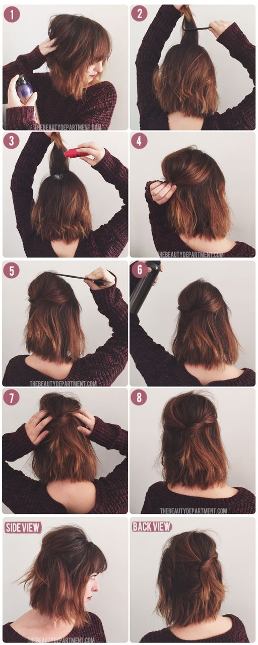 coiffures simples cheveux courts
