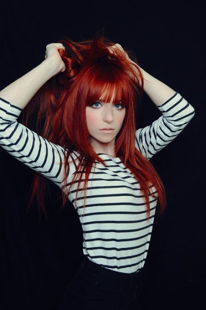 Cheveux Rouges Avec franges: les plus beaux modèles   Coiffure ...