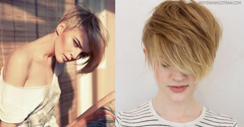 Coupe la gar onne asym trique avec une longue frange coiffure simple et facile - Coupe a la garconne ...
