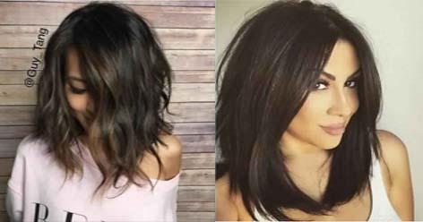 Coupe carr e longue le meilleur choix pour ce printemps coiffure simple et facile - Coupe carree courte femme ...
