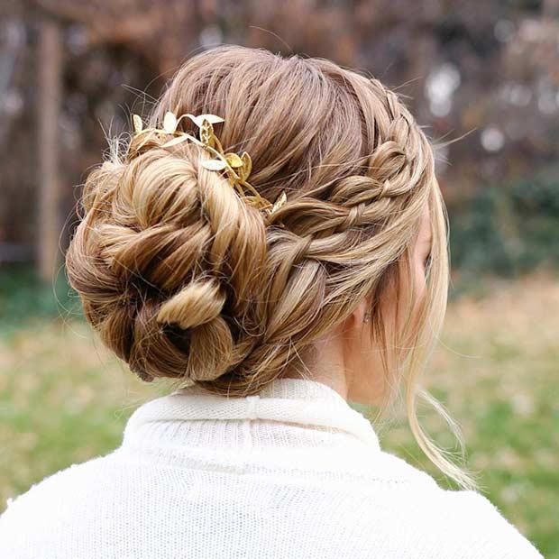 35 magnifiques coiffures pour demoiselles d 39 honneur - Coiffure mariage fille d honneur ...
