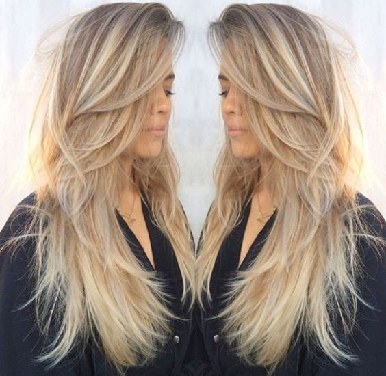 Couleur blonde sur cheveux meches