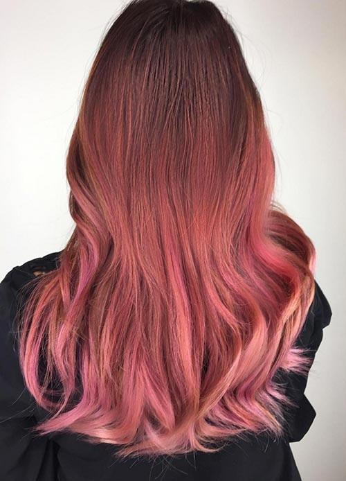 Light Pink Hair Pastel Highlights