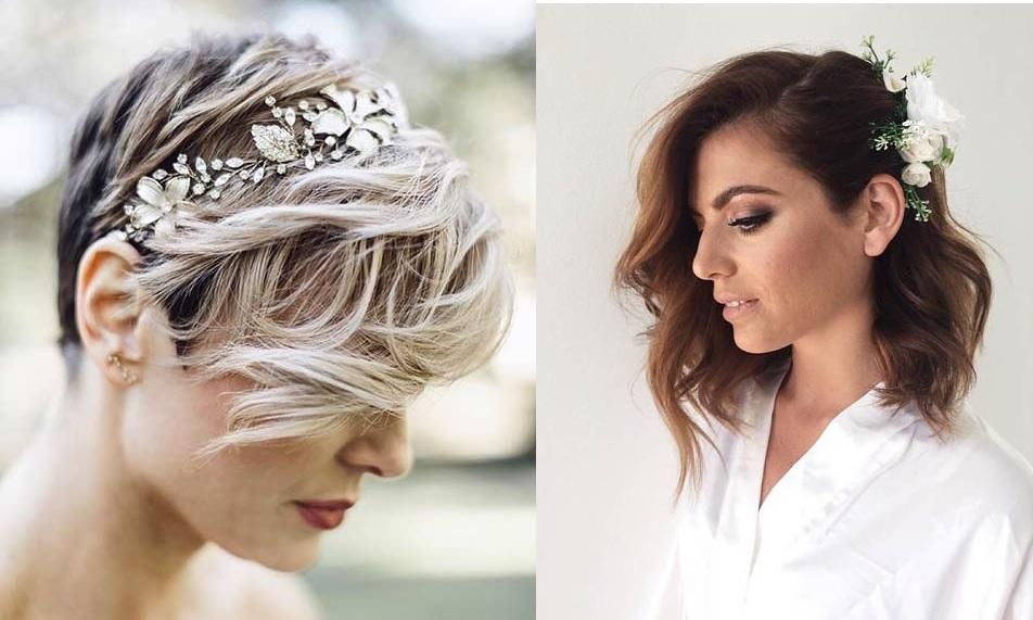 Bien-aimé 30 modèles de coiffure mariage pour cheveux courts   Coiffure  KR44
