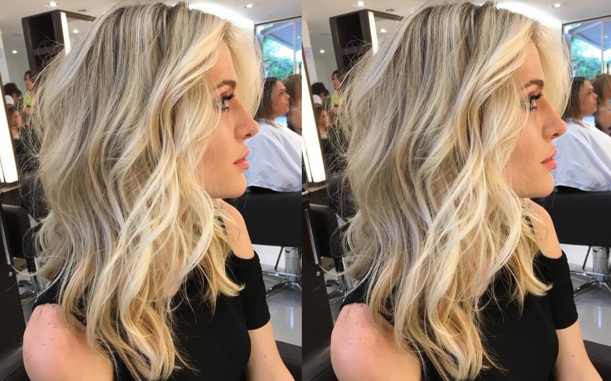 Ballayage Blond avec coiffure balayage - fashion designs