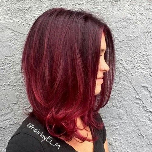 Idées Rouge Couleur des cheveux  12