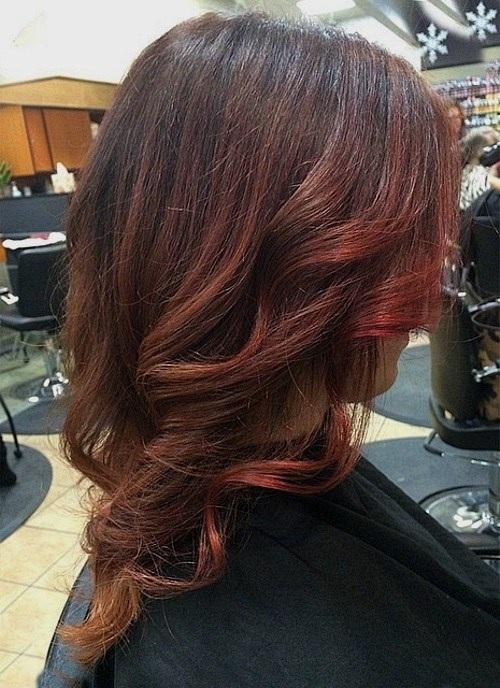 Idées Rouge Couleur des cheveux  17