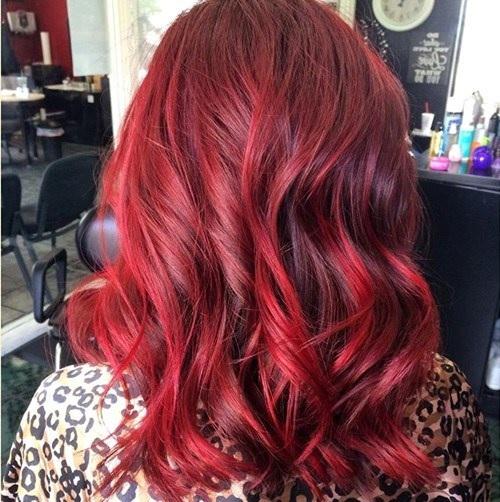 Idées Rouge Couleur des cheveux  20