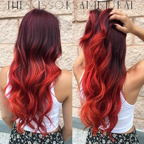 Idées Rouge Couleur des cheveux  9