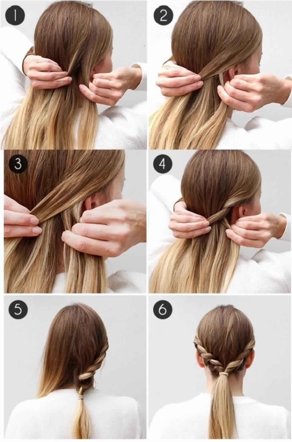 повседневные прически своими руками видео на средние волосы